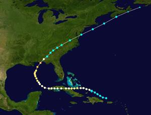 1882 Atlantic hurricane season - Image: 1882 Atlantic hurricane 2 track
