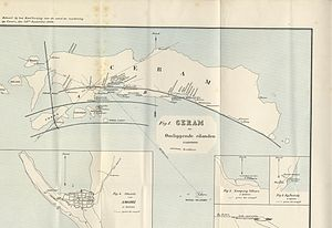 1899 Ceram earthquake - Figure 1. A map that shows the epicenter of the Ceram earthquake