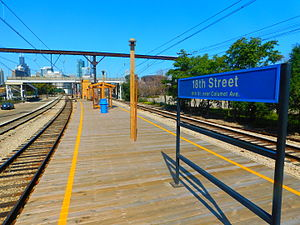 18th Street station (Illinois) - The 18th Street station in October 2015.