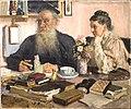 1907Портрет Л.Н.Толстого с женой С.А.Толстой.JPG