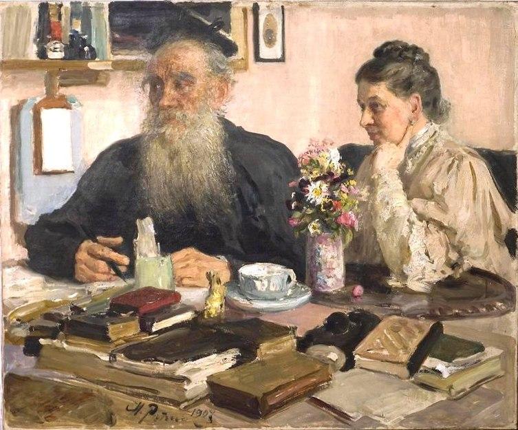 File:1907Портрет Л.Н.Толстого с женой С.А.Толстой.JPG