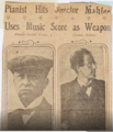 1910-01-31 press clipping Pianist Joseph Weiss and Gustav Mahler.png