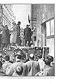 1910-04-07, Actualidades, Alfonso XIII en el momento de dar el primer piquetazo en la rectoral de San José inaugurando los derribos de la Gran Vía, Alba.jpg