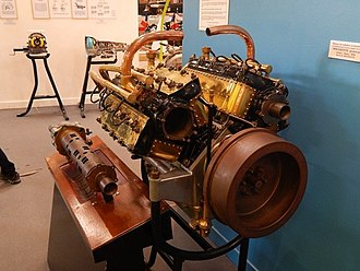 W16 engine - An early rotary valve W16 engine designed in 1916 by Frenchman Gaston Mougeotte