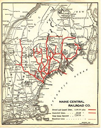 Maine Central Railroad Company - Image: 1923 MEC