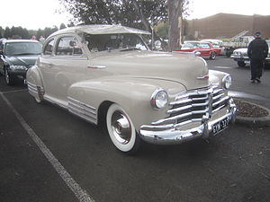 Chevrolet Fleetmaster - 1948 Chevrolet Fleetmaster Sport Coupe. This example has the additional triple fenders mouldings which were a feature of the Fleetline sub-series models