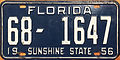 1956 Florida (USA) License Plate.JPG