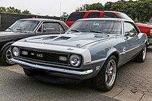 1968 Chevrolet Camaro Coupé Front hellblau
