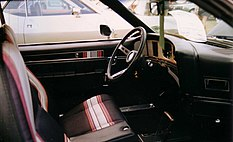Shows Cardin interior in a 1972 Javelin