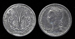A 1 Cfa Franc Coin