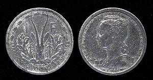 CFA franc - Image: 1 Franc CFA