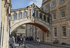 Bridge of Sighs (Oxford) - Hertford Bridge from Catte Street