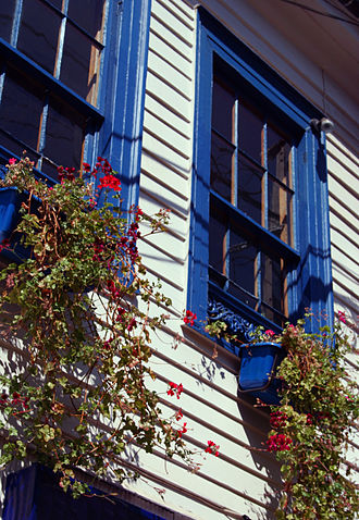 Window box - Window boxes in Valparaiso, Chile, 2000