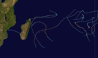 2001–02 South-West Indian Ocean cyclone season - Image: 2001 2002 South West Indian Ocean cyclone season summary