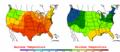 2002-09-07 Color Max-min Temperature Map NOAA.png