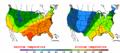 2002-10-04 Color Max-min Temperature Map NOAA.png