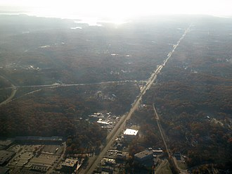 Pasadena, Maryland - Ritchie Highway in Pasadena from the air.