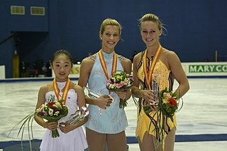 Becky Bereswill - Bereswill (center) with the other medalists at the 2008–09 Junior Grand Prix Final.