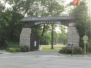 Ravinia Festival - One of the entrances to Ravinia Park