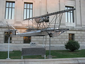 Budd BB-1 Pioneer - The Pioneer in front of the Franklin Institute