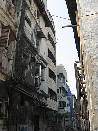 Terrorism in India - Nariman House, a Jewish center in Mumbai, after 26/11 terror attack in 2008. Six Jews were killed there, along with 158 people of other faiths elsewhere in Mumbai by Pakistani Islamic terrorists.