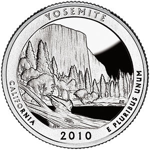 America the Beautiful Quarters - Yosemite quarter