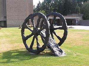 Armando (artist) - Sculpture Feldzug (1989) by Armando at the entrance of Cemetery Rusthof in Leusden, Netherlands