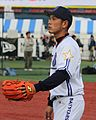 20111123 Kenjiro Tsuruoka, catcher of the Yokohama BayStars, at Yokohama Stadium.jpg