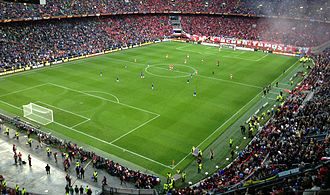 2013 UEFA Europa League Final - The match was played at Amsterdam Arena in front of more than 46,000 spectators.