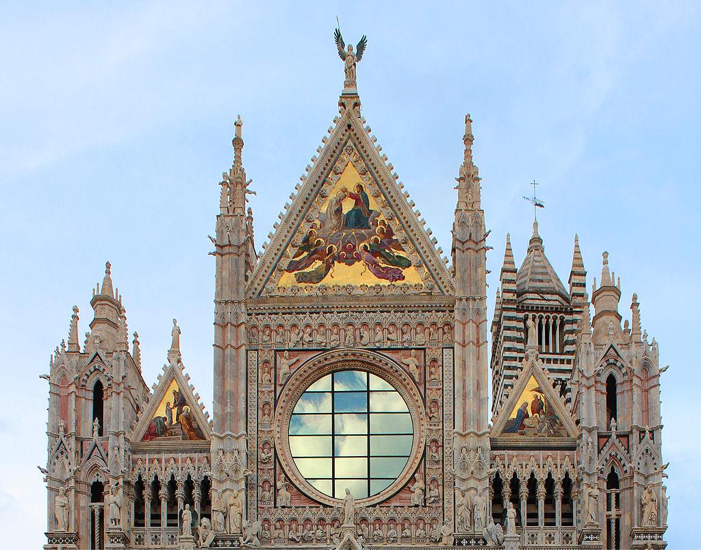 Duomo di Siena, La parte superiore della facciata