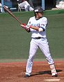 20120401 Ikki Simamura, infielder of the Yokohama DeNA BayStars, at Yokosuka Stadium.JPG