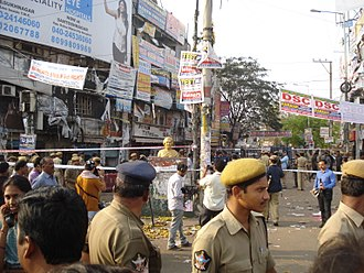 2013 Hyderabad blasts - Place of the second blast several hours later