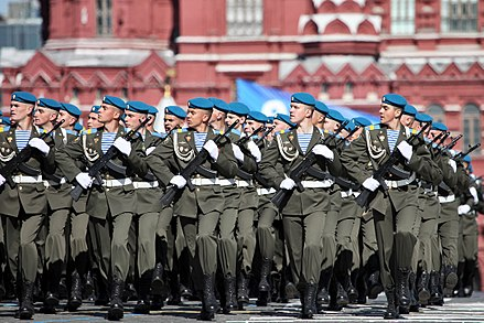 The paratroopers of the 217th paratrooper regiment of the 98th guards airborne division at the 2013 Moscow Victory Day Parade 2013 Moscow Victory Day Parade (15).jpg