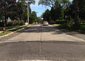 2014-08-29 15 30 58 Intersection of Lower Ferry Road (Mercer County Route 643) and Stuyvesant Avenue in Ewing, New Jersey, with concrete pavement likely dating to the 1950s.JPG