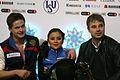 2014 ISU Junior Grand Prix Final Lina Fedorova Maxim Miroshkin Vladislav Zhovnirski IMG 2180.JPG