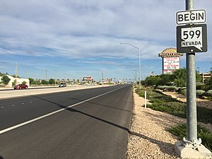 Nevada State Route 599 - View at the north end of SR 599 looking southbound