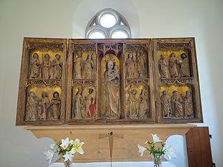 St. Mary's altar Leipzig-Lützschena