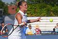2015 US Open Tennis - Qualies - Misa Eguchi (JPN) def. Julie Coin (FRA) (20303694404).jpg