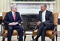 2016 March 9 President Obama meets with Judge Merrick Garland in Oval Office (cropped).jpg