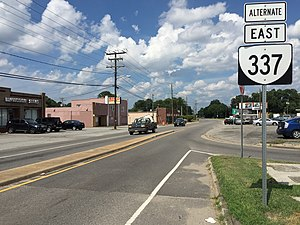 Virginia State Route 337 Alternate (Portsmouth) - View east at the west end of SR 337 Alternate in Portsmouth