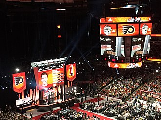 2017 NHL Entry Draft - The stage after Nolan Patrick was selected second-overall by the Philadelphia Flyers.