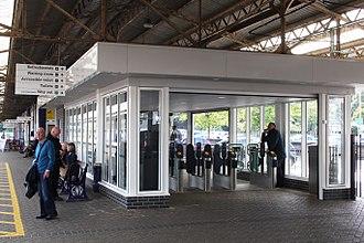 Newton Abbot railway station - Ticket barriers installed on Platform 3 in 2017