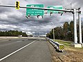 2018-10-29 13 57 31 View north along Virginia State Route 286 (Fairfax County Parkway) at the exit for Virginia State Route 267 WEST (Dulles Airport) in Reston, Fairfax County, Virginia.jpg