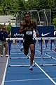 2018 USATF Outdoor National Championships SPC Marcus Maxey- first round of the men's 110m hurdles (28107471757).jpg