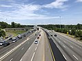 2019-06-24 14 49 12 View north along Interstate 95 from the overpass for Virginia State Route 123 (Gordon Boulevard) in Woodbridge, Prince William County, Virginia.jpg
