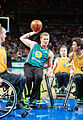 231000 - Wheelchair basketball Troy Sachs passes - 3b - 2000 Sydney match photo.jpg