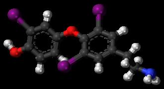 3,3',5-Triiodothyronamine - Image: 3,3',5 Triiodothyronamine 3D ball