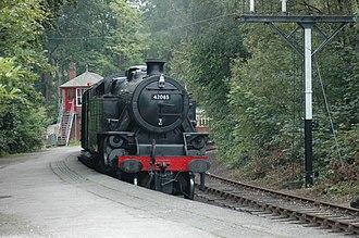 Lakeside and Haverthwaite Railway - Image: 42085 Fairburn 2 6 4T at Lakeside stn