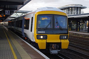 British Rail Class 466 - A Southeastern Class 466 in the new blue livery