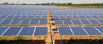 Solar power in India - 4 MW horizontal single-axis tracker in Vellakoil, Tamil Nadu